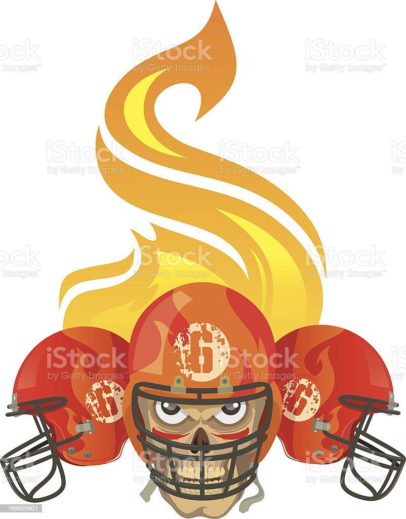 hell of American football vector art illustration