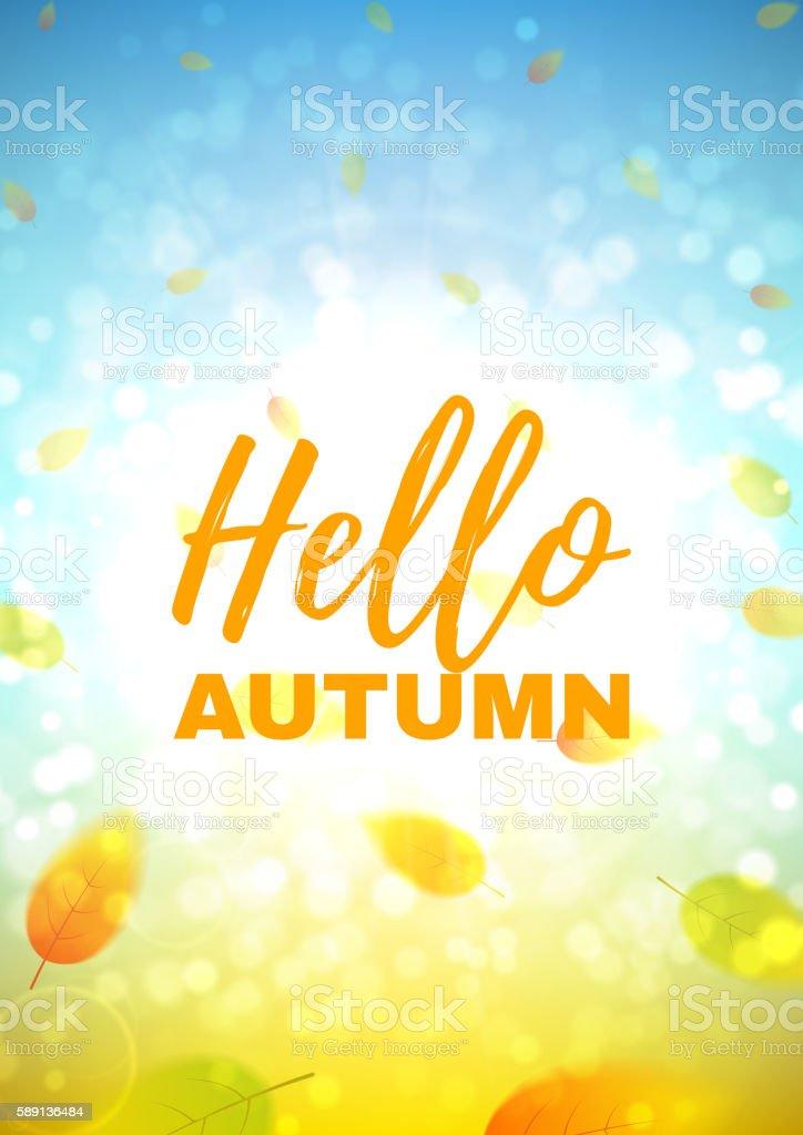 Hello autumn flyer royalty-free stock vector art