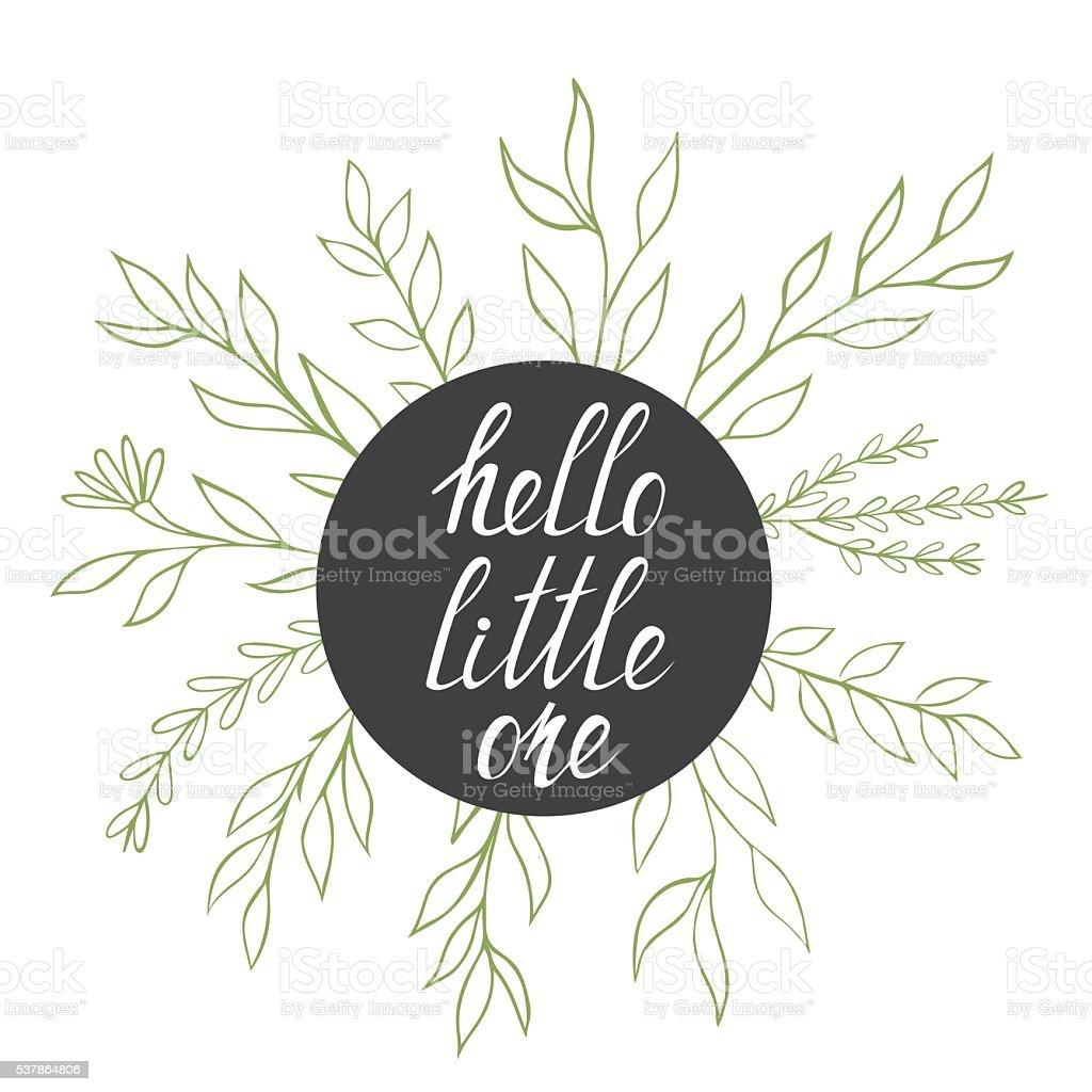 Hello Little One vector art illustration