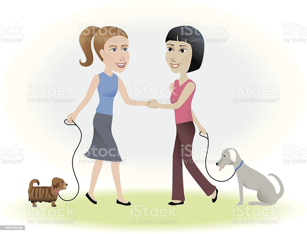Hello New Friend vector art illustration