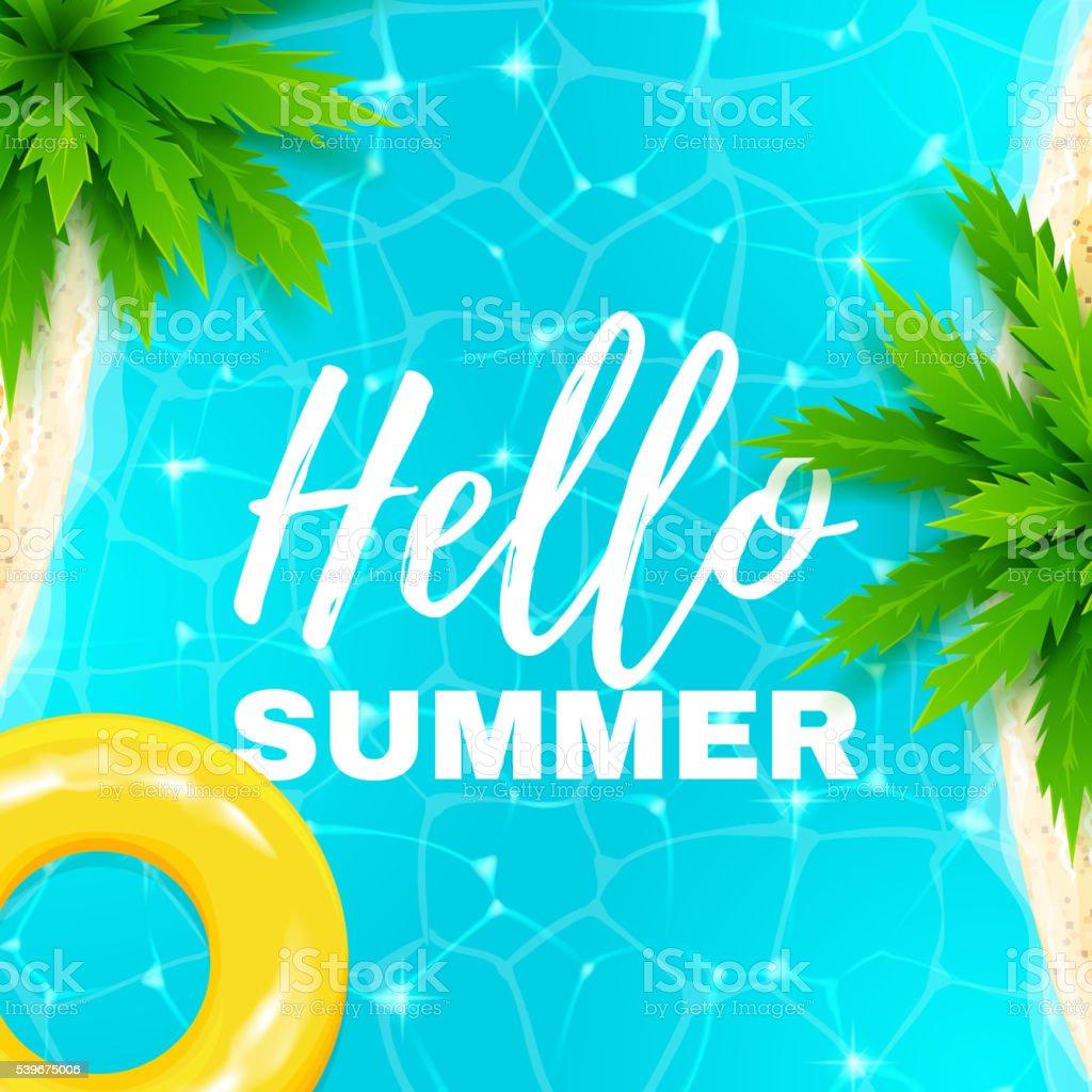 Hello summer banner royalty-free stock vector art