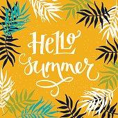 'Hello Summer' hand lettering