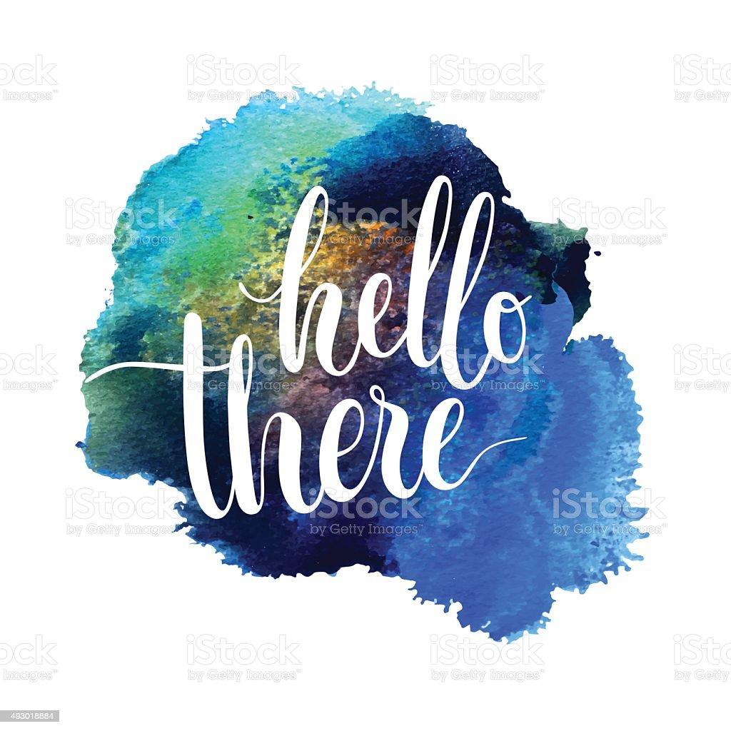 Hello there card. Ink illustration. vector art illustration
