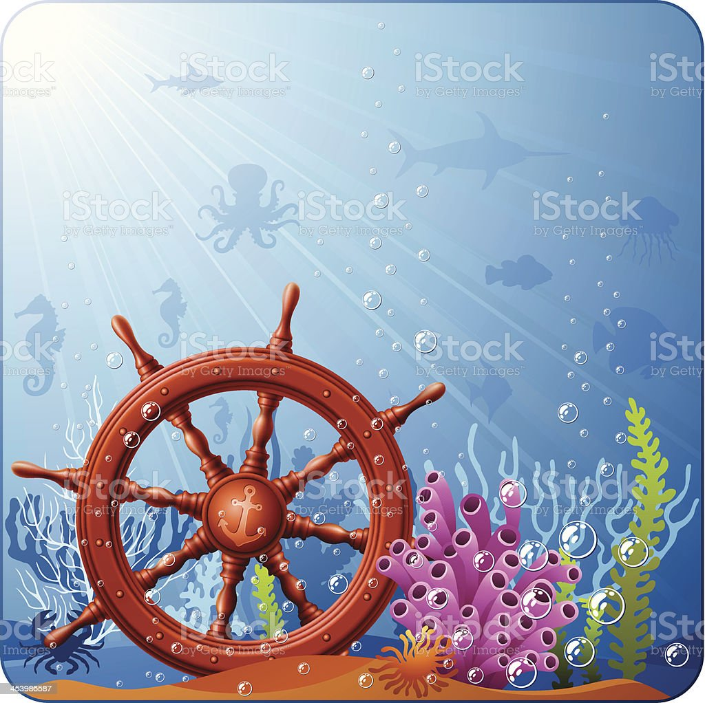 Helm and underwater royalty-free stock vector art