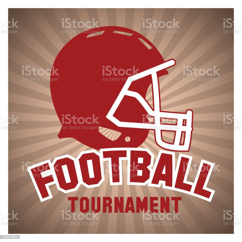 Helmet of american football design vector art illustration
