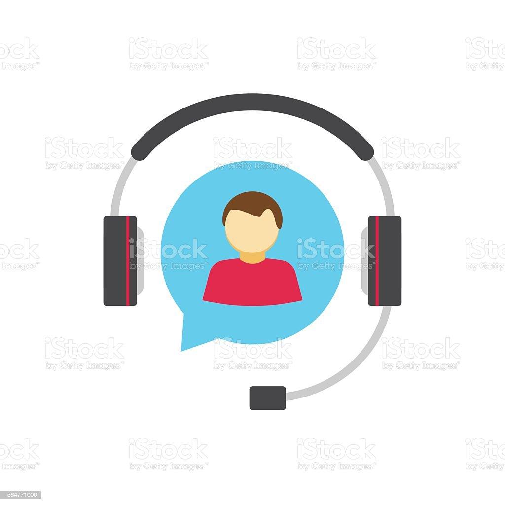 Help desk logo concept, customer support service assistance vector icon vector art illustration
