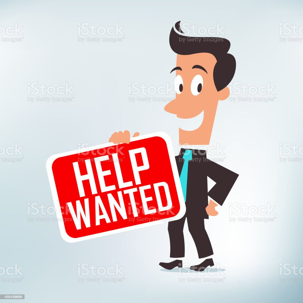 Help Wanted royalty-free stock vector art
