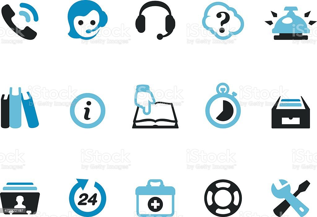 Helpdesk / Coolico icons vector art illustration