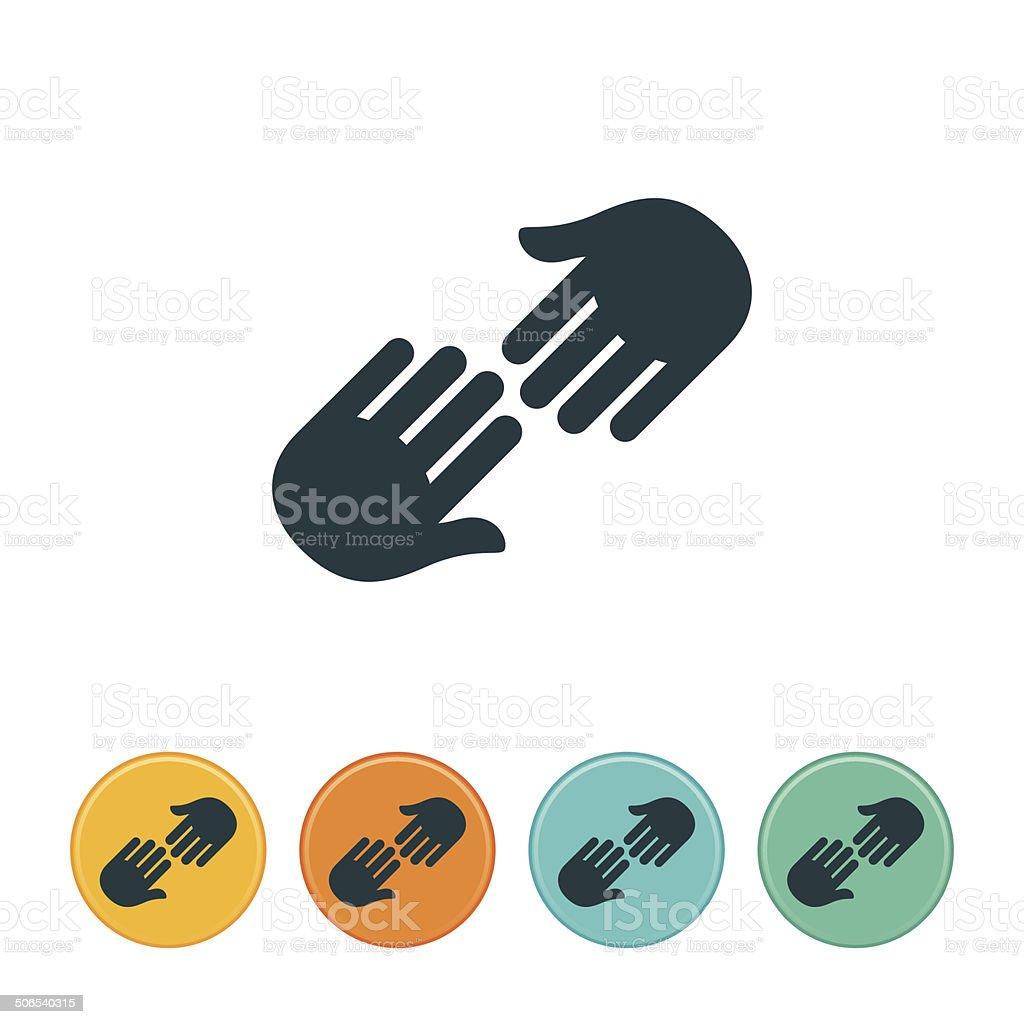 Helping Hand Icon vector art illustration