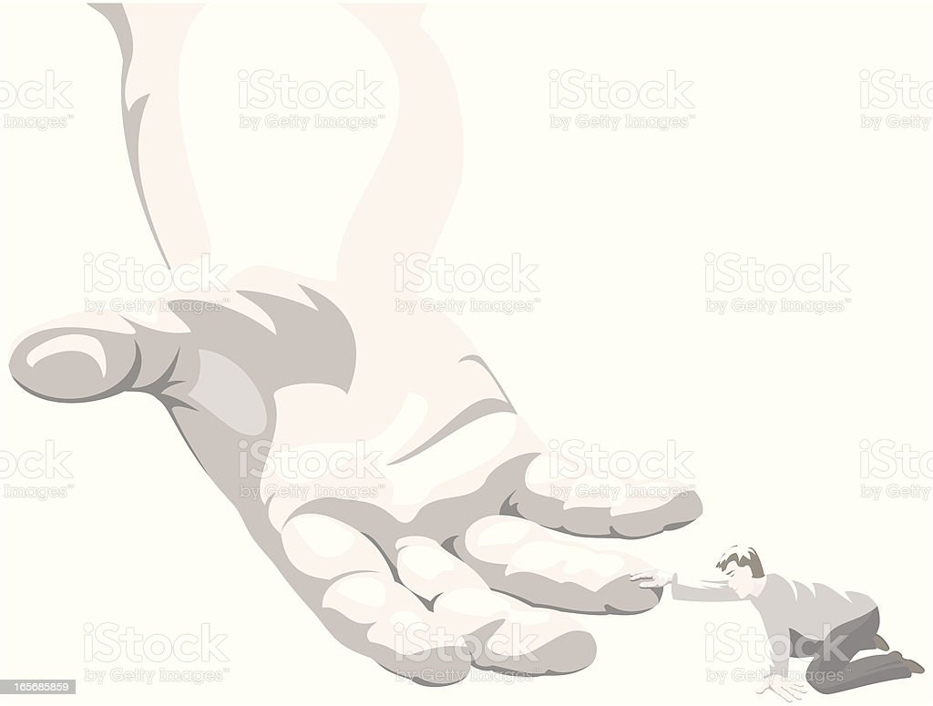Helping Hand royalty-free stock vector art