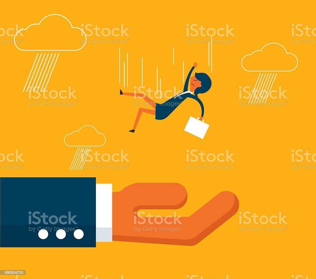 Helping Hand vector art illustration