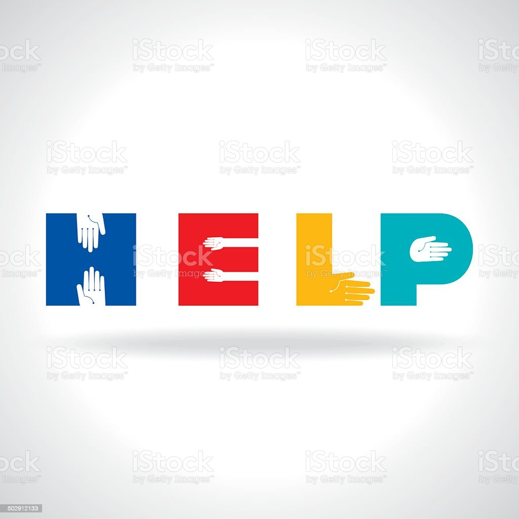 helping hands, vector illustration vector art illustration