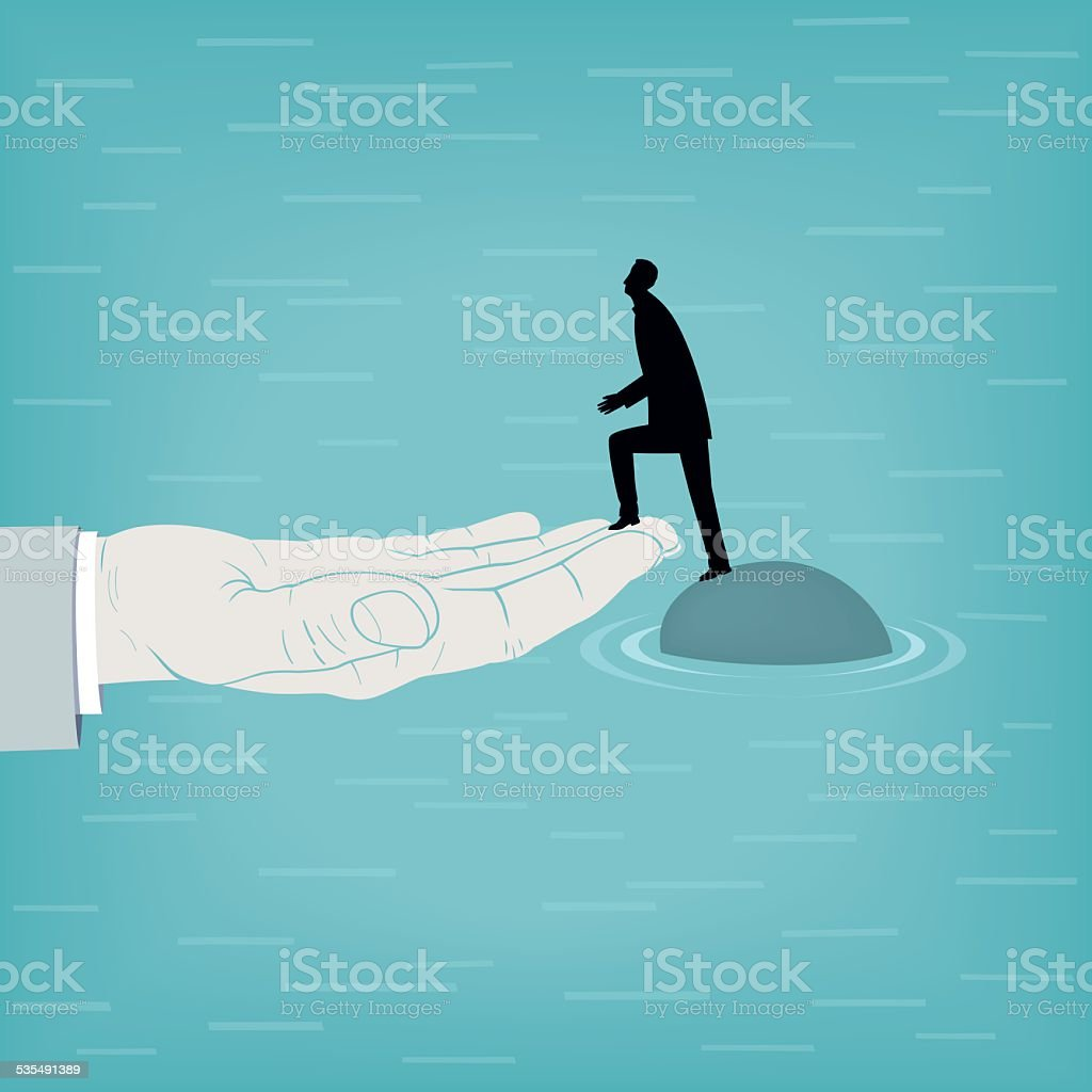 Helping-Hand vector art illustration