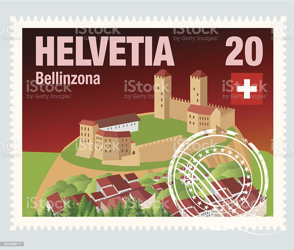 Helvetia  Postage royalty-free stock vector art
