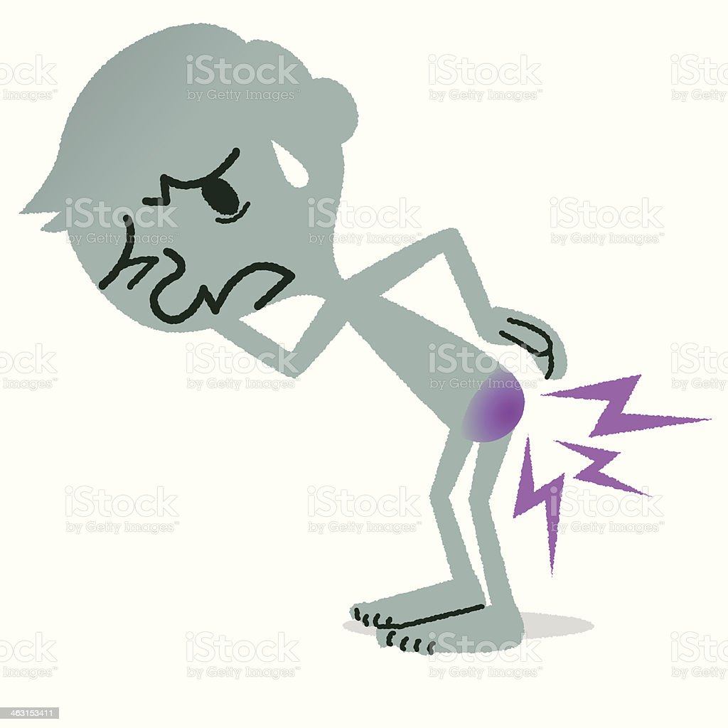 Hemorrhoids vector art illustration