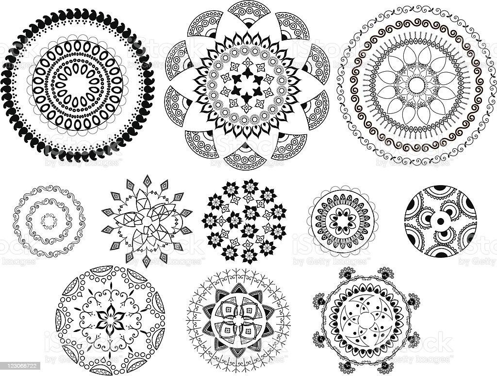 Henna Abstract designs royalty-free stock vector art