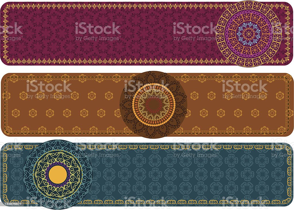 Henna Banners royalty-free stock vector art