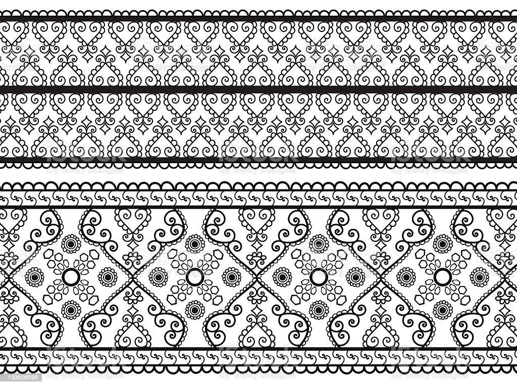 Henna Borders royalty-free stock vector art