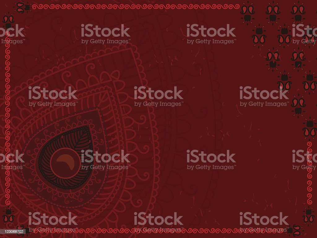 Henna Design background royalty-free stock vector art