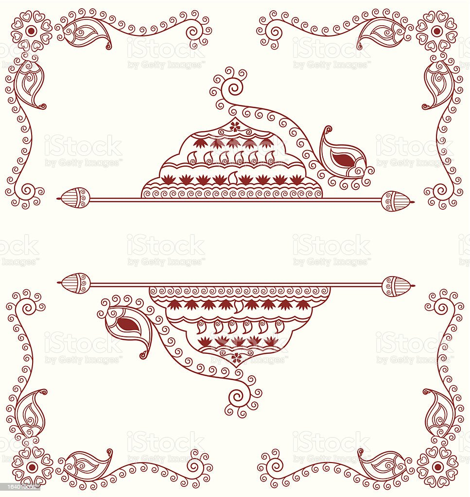 henna design template vector art illustration