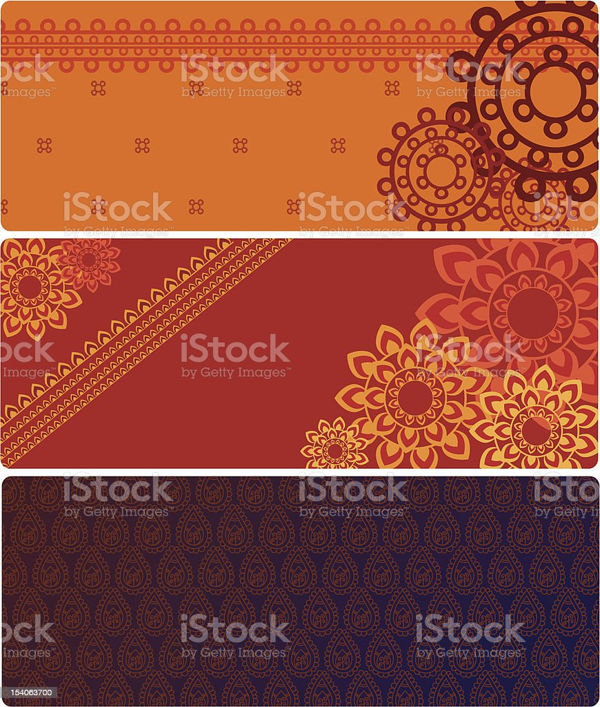 Henna Mandala Background / Pattern royalty-free stock vector art