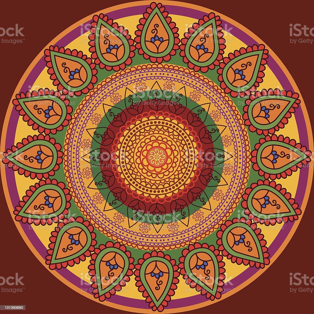 Henna Mandala Designs royalty-free stock vector art