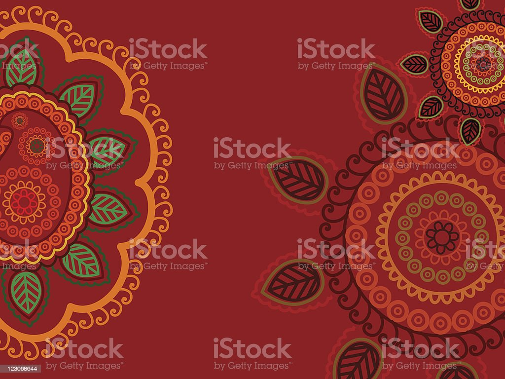 Henna Paisely background royalty-free stock vector art