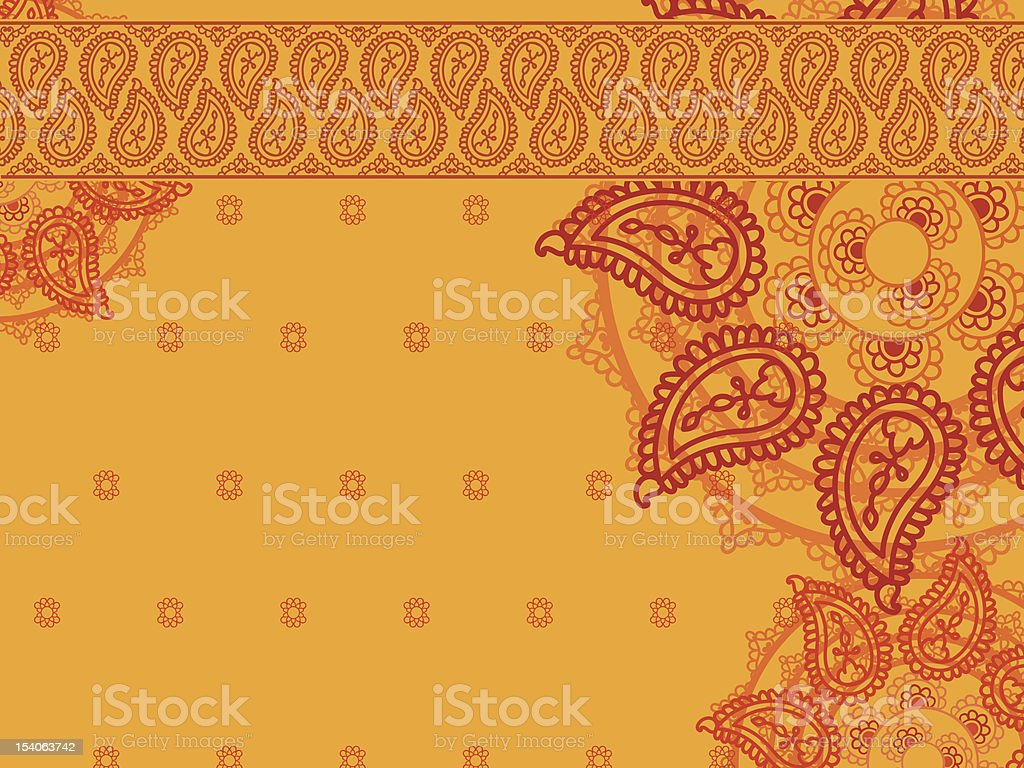 Henna Paisley background royalty-free stock vector art