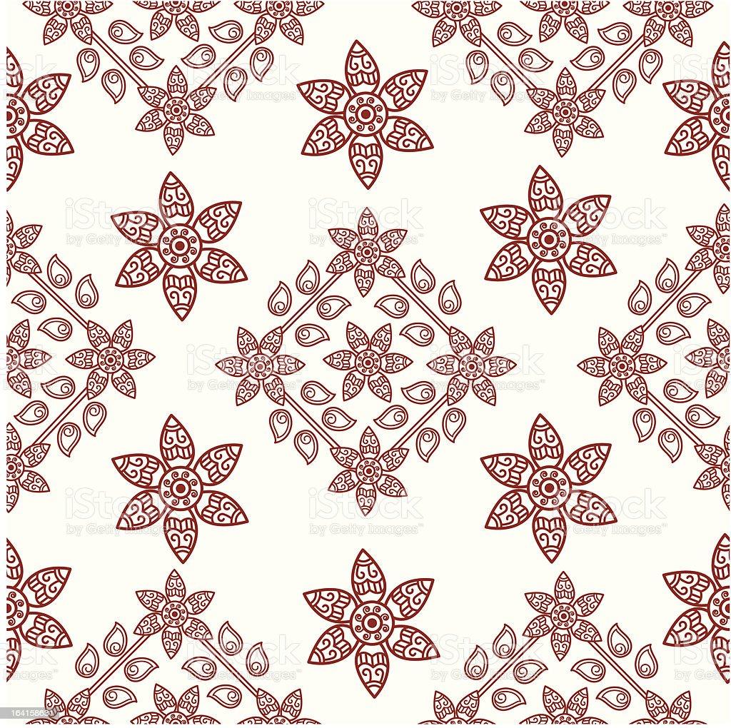 henna seamless design royalty-free stock vector art