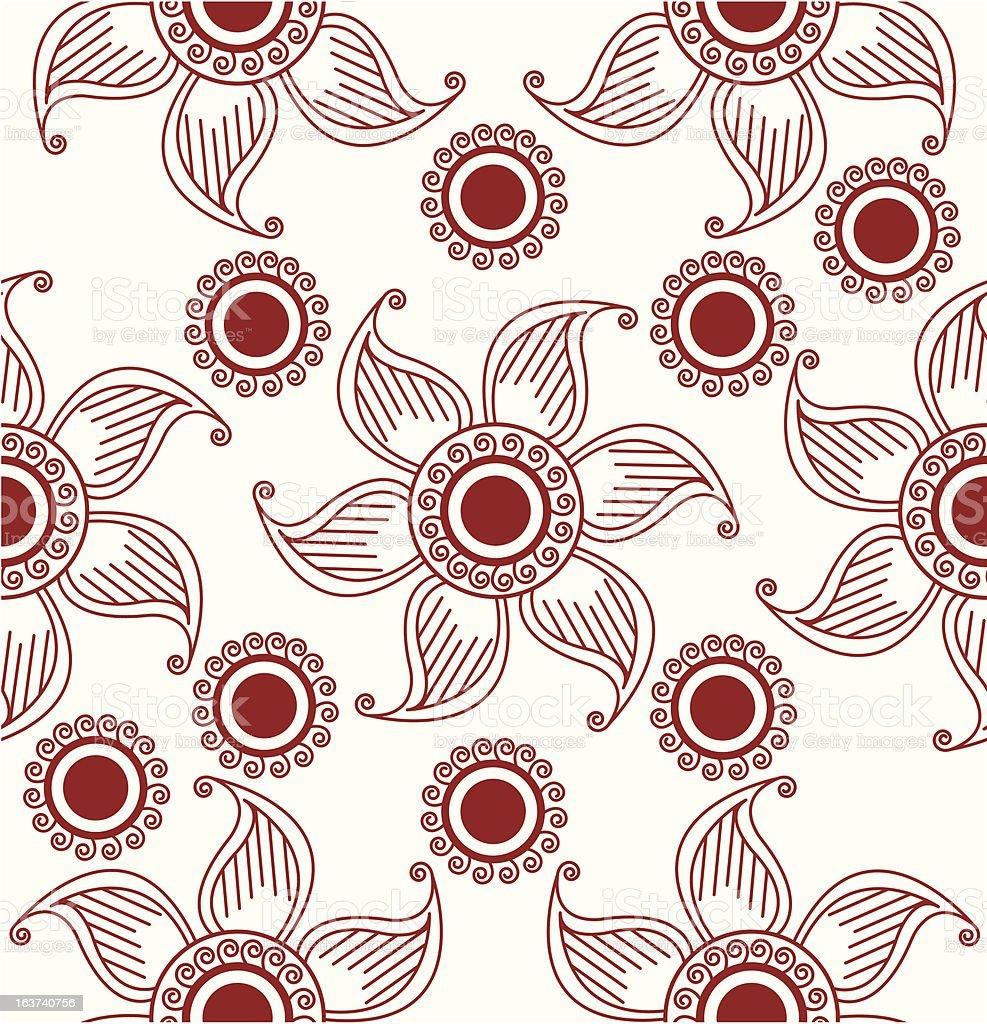 henna seamless pattern royalty-free stock vector art