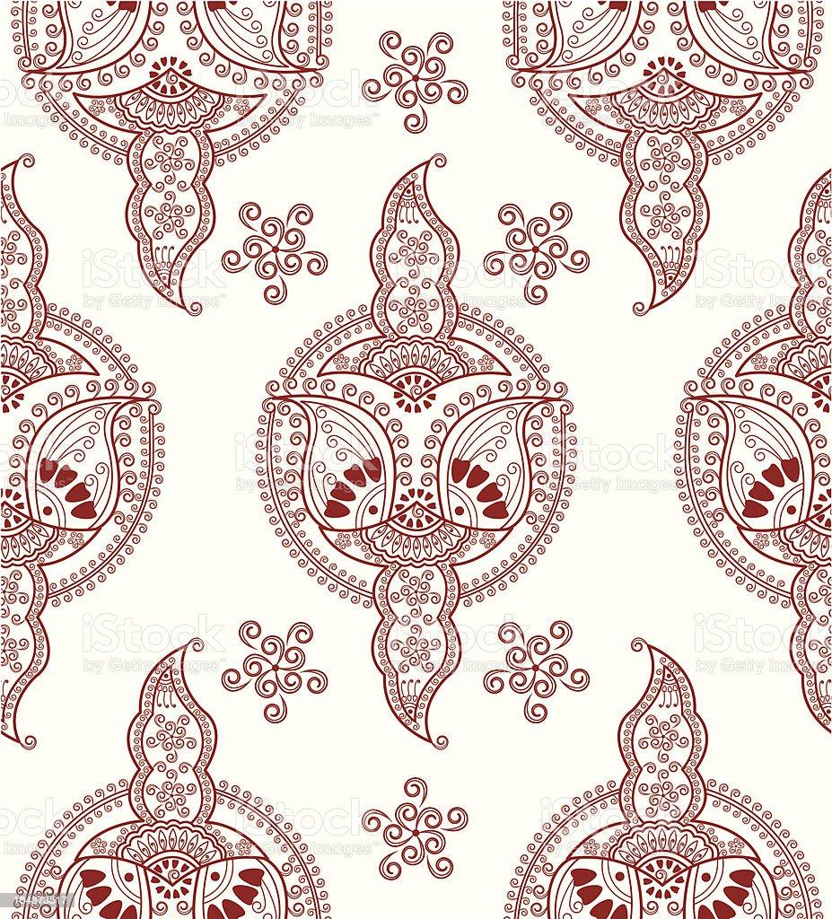 henna seamless royalty-free stock vector art