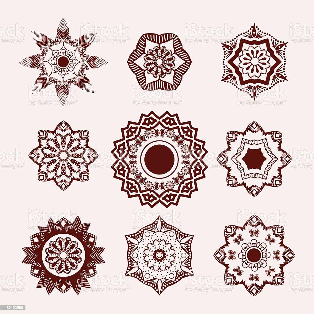 Henna Tattoo Vector: Henna Tattoo Design Element Mehndi Flowers Stock Vector