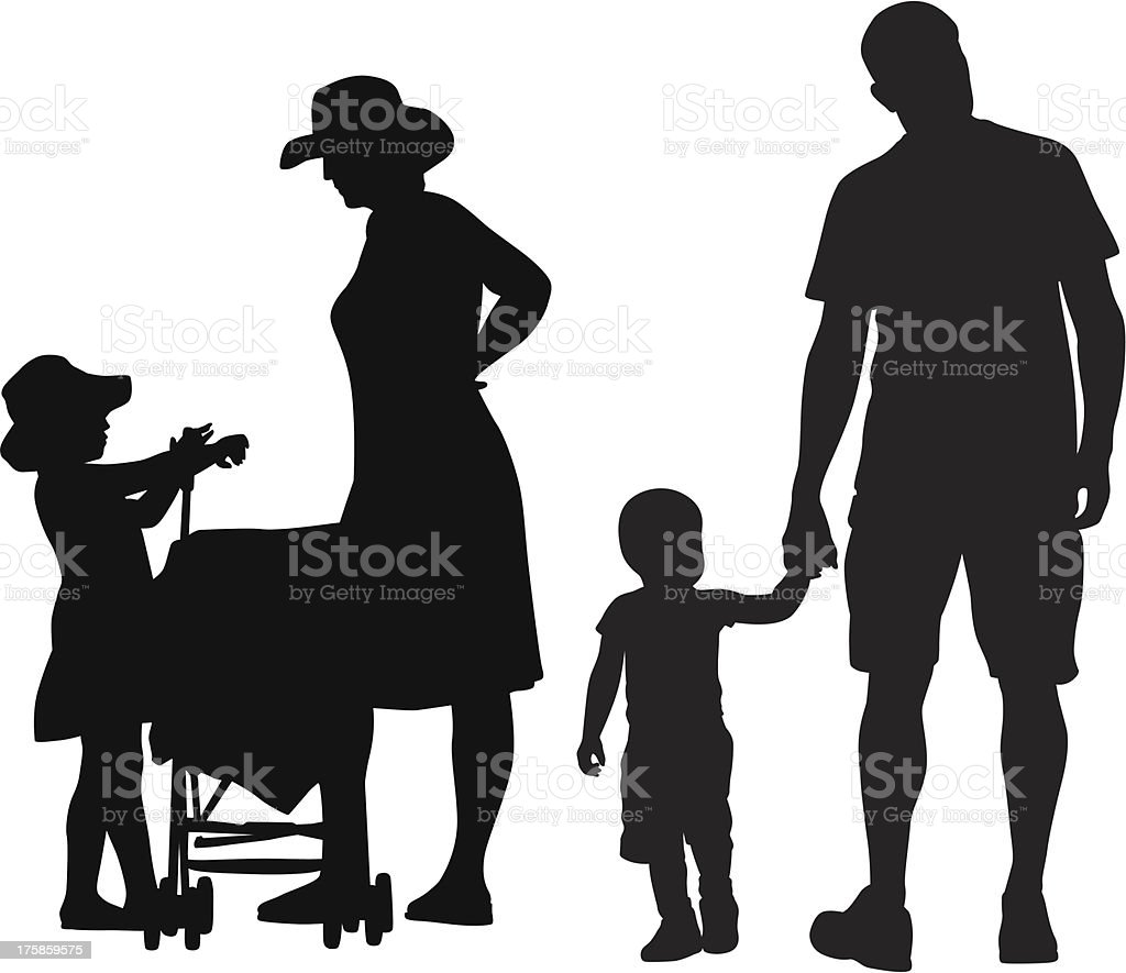 Her Family royalty-free stock vector art