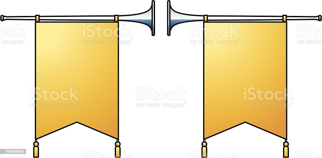 Herald Trumpets royalty-free stock vector art