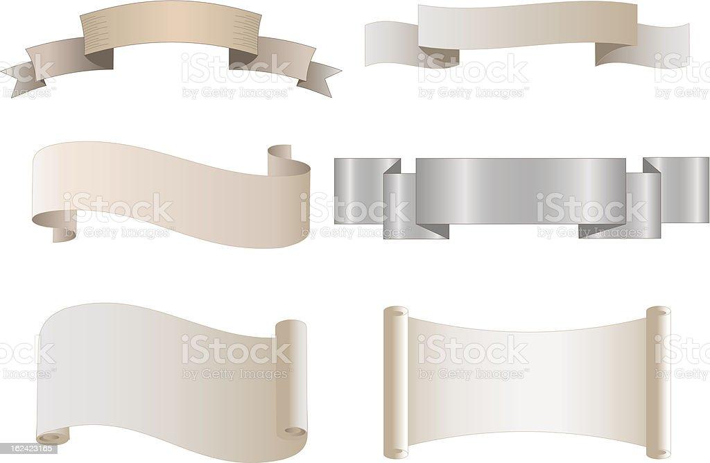 Heraldic banners royalty-free stock vector art
