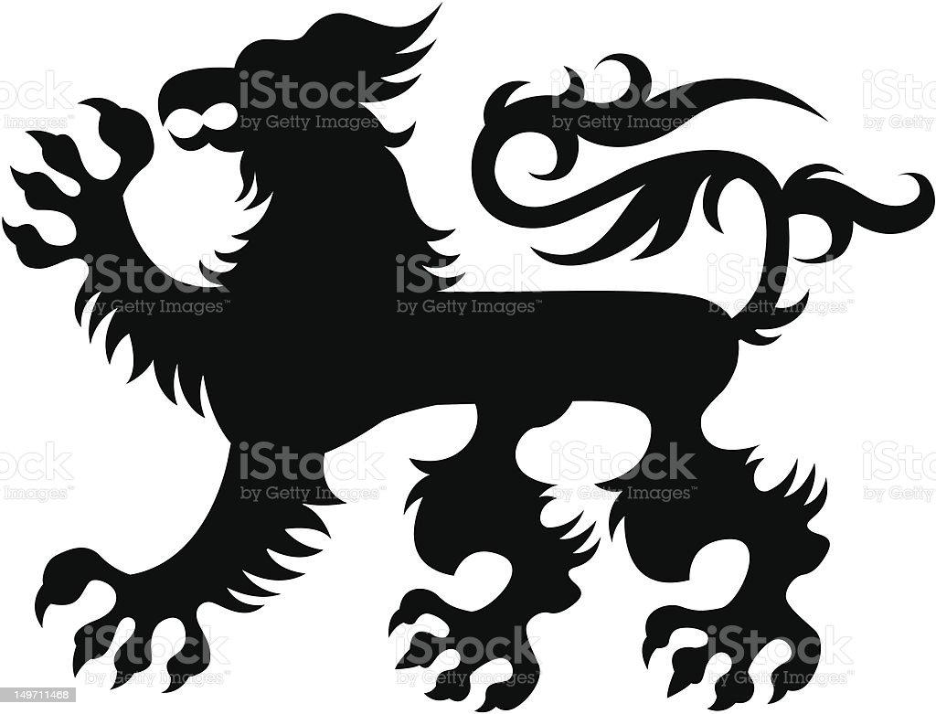 Classico stemma con grifone araldica illustrazione royalty-free