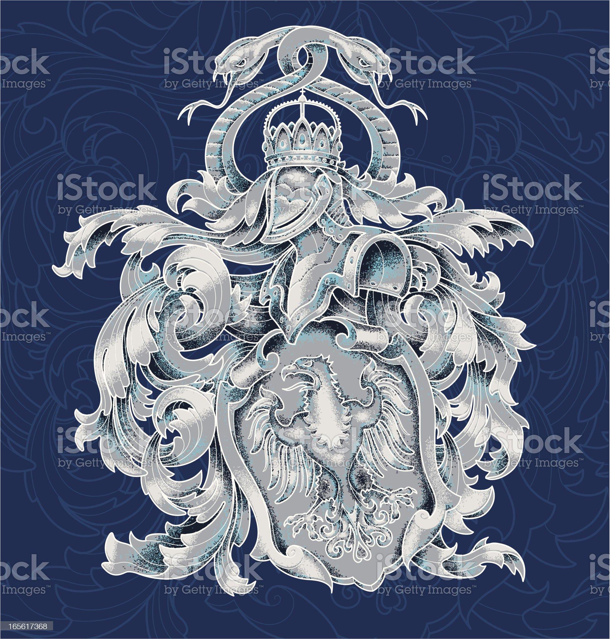 heraldic crest royalty-free stock vector art