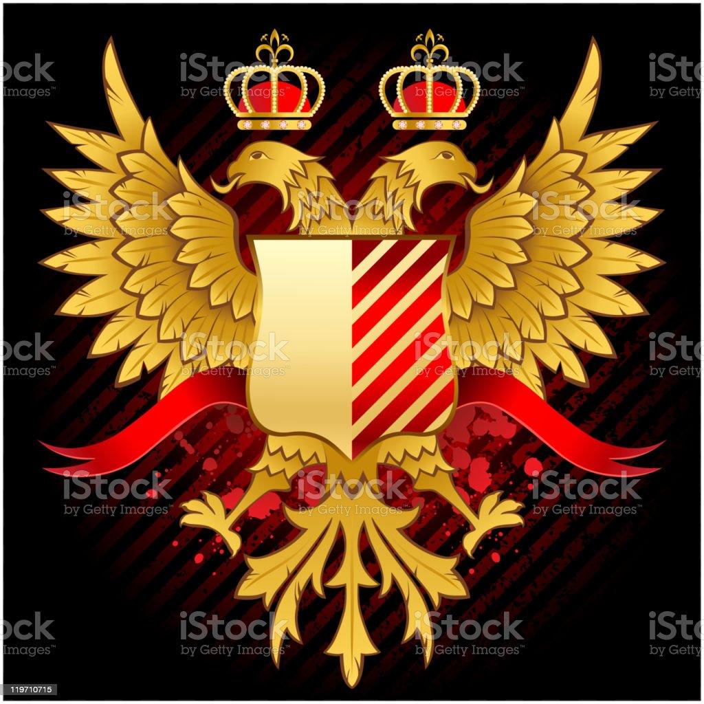 heraldic design royalty-free stock vector art