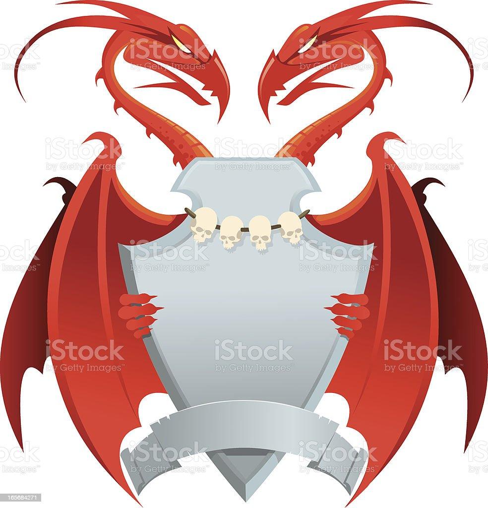 Heraldic dragon royalty-free stock vector art