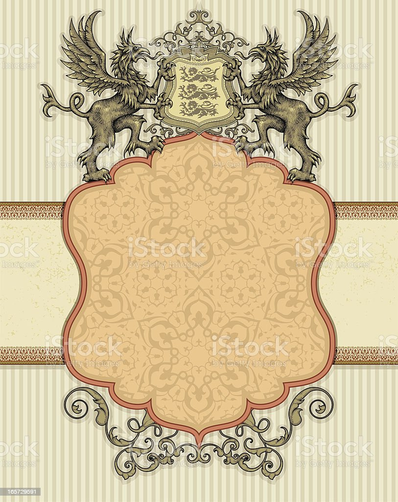 Heraldic Frame vector art illustration