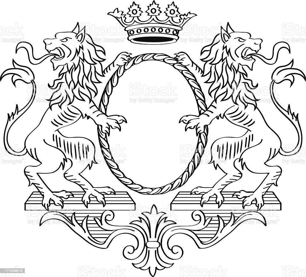 Heraldic Frame royalty-free stock vector art