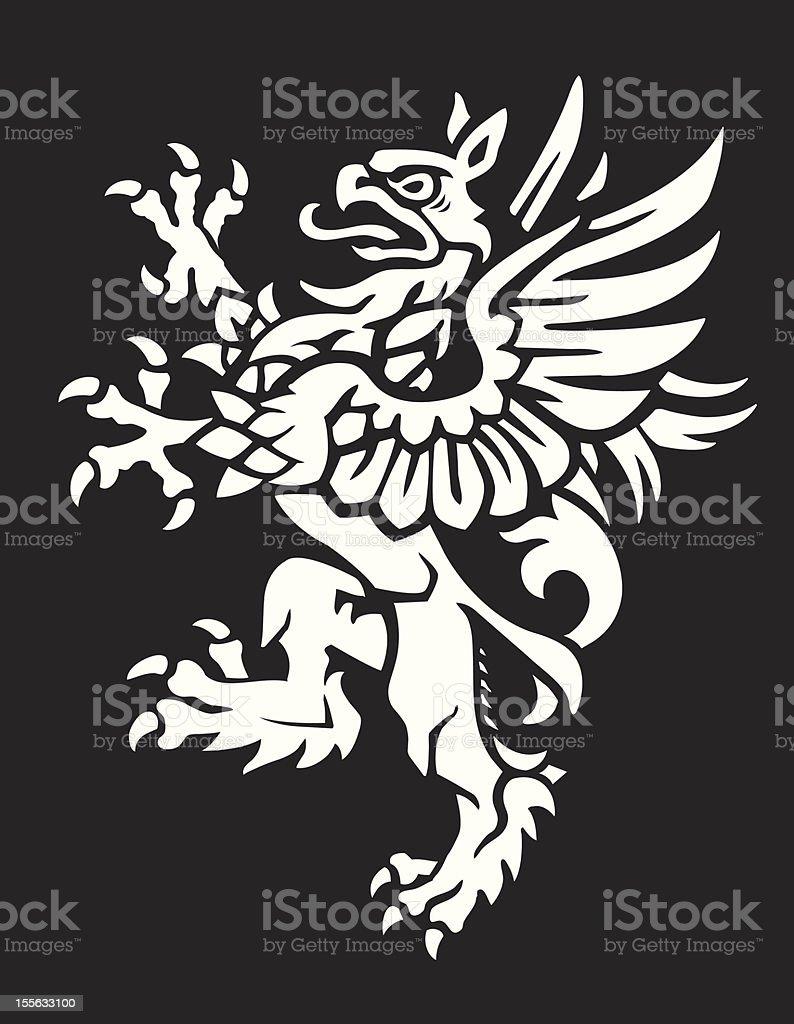 Heraldic Griffin royalty-free stock vector art