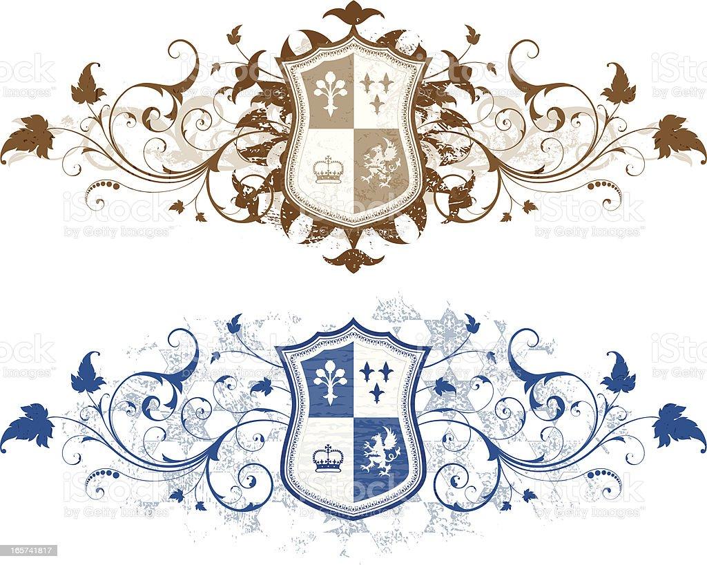 Heraldic Grunge royalty-free stock vector art