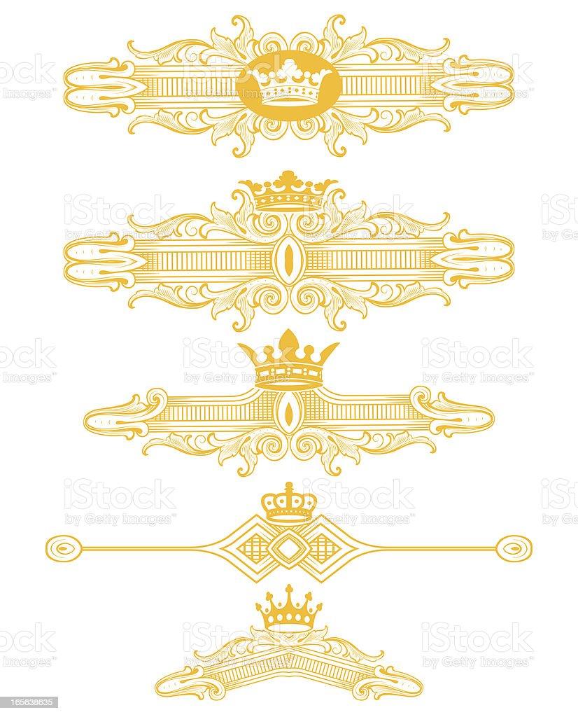 Heraldic Ornaments vector art illustration