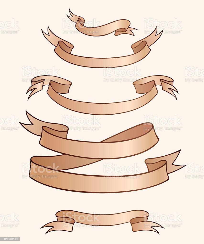 heraldic ribbon royalty-free stock vector art