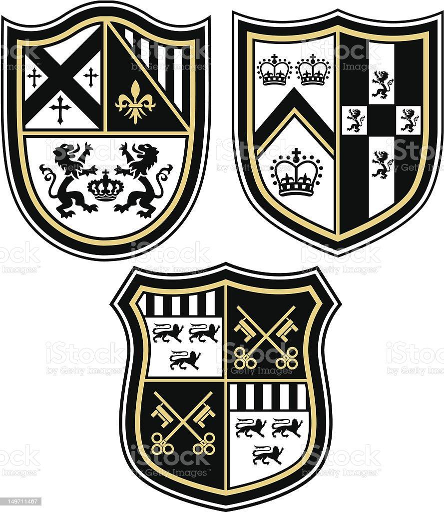 Araldica design della schermatura illustrazione royalty-free