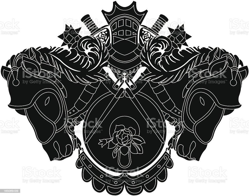 heraldic shield royalty-free stock vector art