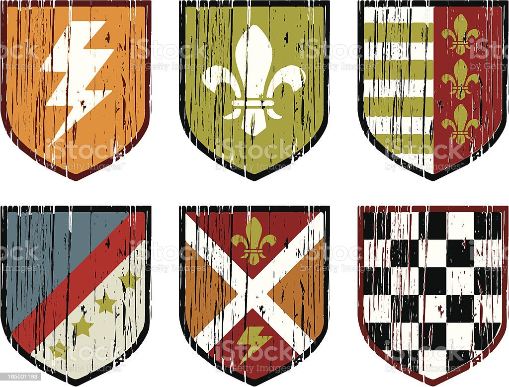 heraldic shields royalty-free stock vector art