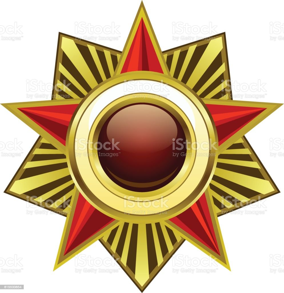 Heraldic star vector art illustration