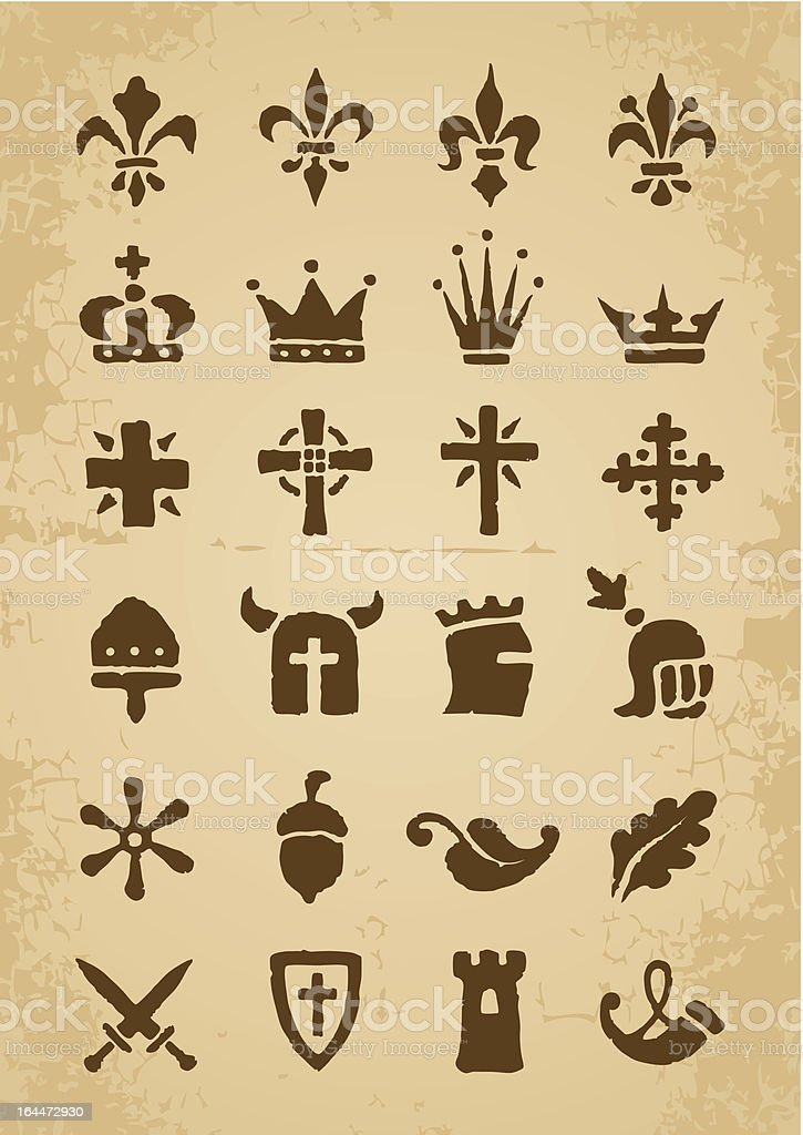 Heraldic symbols royalty-free stock vector art